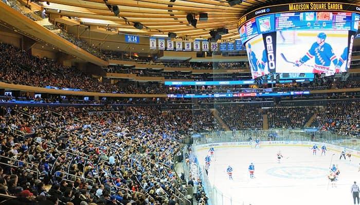 New York Rangers - Spiel im Madison Square Garden