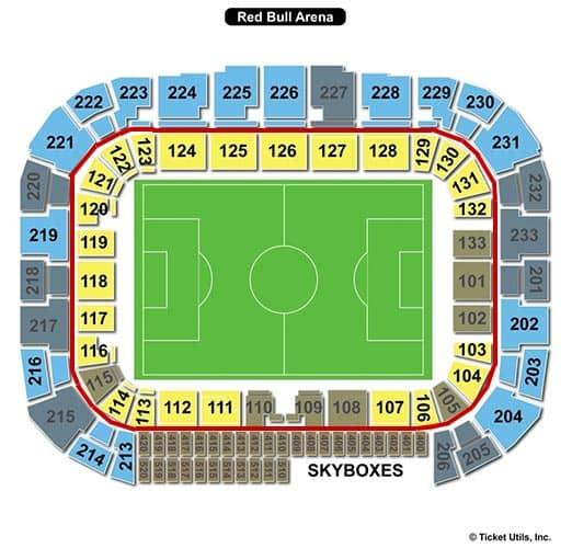 New York Red Bulls - Red Bull Arena Sitzplan