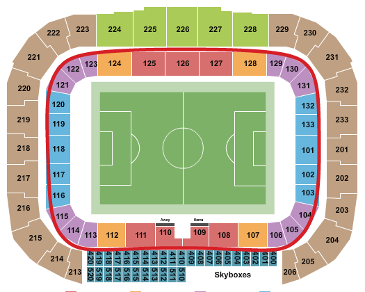 New York Red Bulls Tickets - Red Bull Arena Sitzplan
