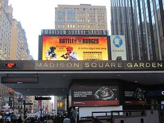 Madison Square Garden in NYC - Plakatwand