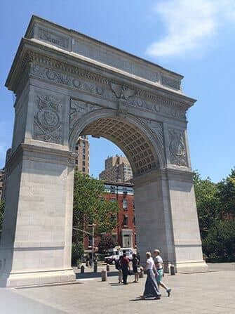 Radtour durch Manhattan - Washington Square Park