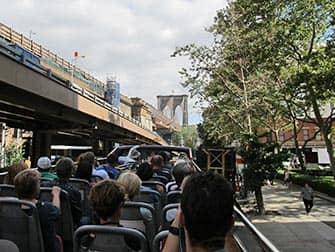 CitySights Hop on Hop off Bus in New York - Brooklyn Bridge