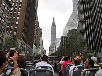 CitySights Hop on Hop off Bus in New York - Empire State Building