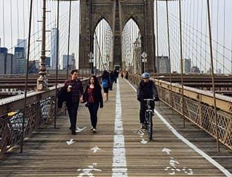 Fahrrad mieten in New York - Radeln über die Brooklyn Bridge