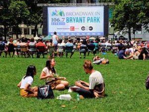 Broadway im Bryant Park