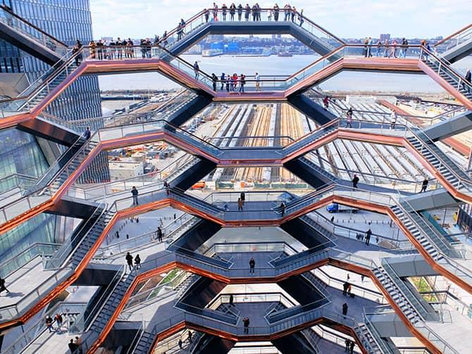 Hudson Yards Vessel in New York - Aussicht von Vessel