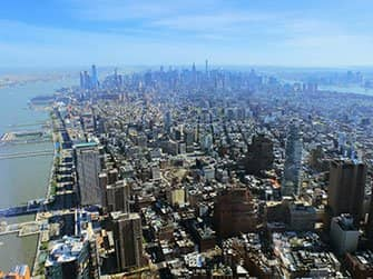 Unterschied zwischen New York Sightseeing Flex Pass und New York Explorer Pass - One World Observatory Ausblick
