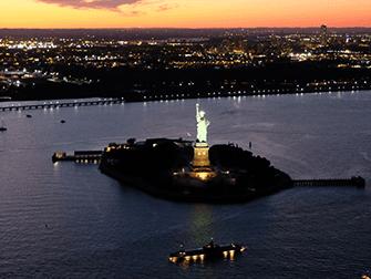Helikopter- und Bootstour am Abend in New York - Freiheitsstatue