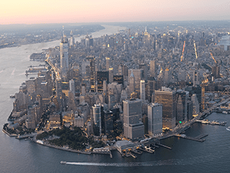Helikopter- und Bootstour am Abend in New York - Manhattan