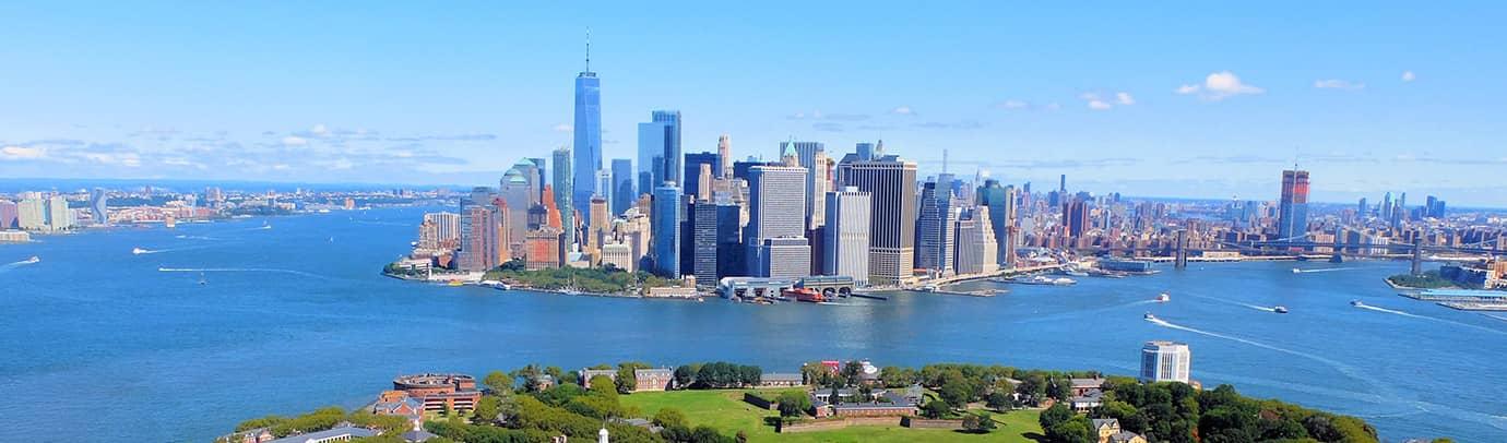 Machen Sie einen Helikopter-Rundflug in New York