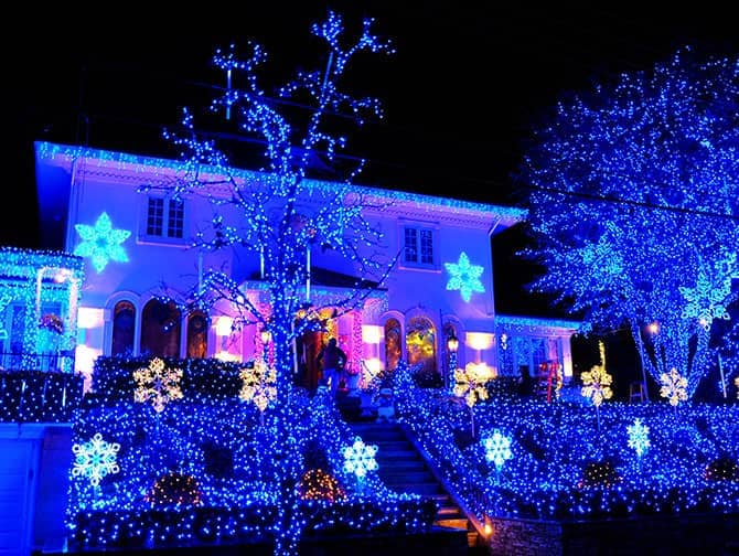 Dyker Heights Christmas Lights - Blaue Lichter