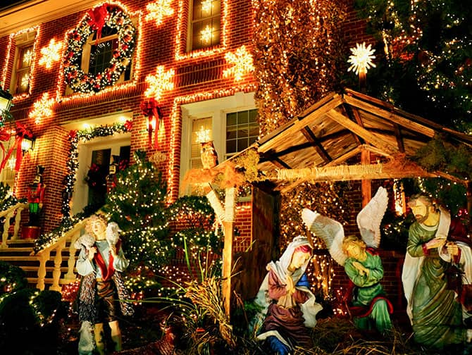 Dyker Heights Christmas Lights - Krippenszene