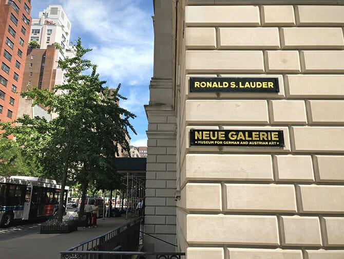 Neue Galerie in New York - Aussenansicht