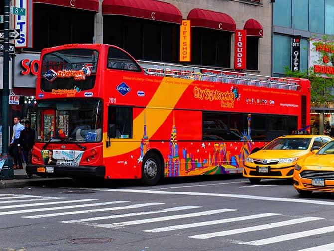 Unterschied zwischen New York Sightseeing Flex Pass und Sightseeing Day Pass - Hop on Hop off Bus