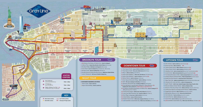 U Bahn Karte New York.Gray Line Hop On Hop Off Bus In New York Newyorkcity De