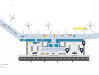 Flug Hamburg - New York City - Karte Flughafen Hamburg