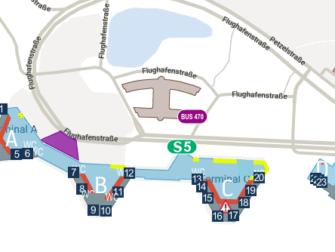 Flug Hannover - New York City - Karte Flughafen Hannover