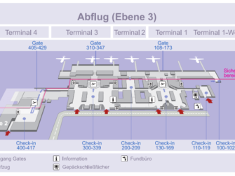 Flug Stuttgart - New York City - Karte Flughafen Stuttgart Abflug