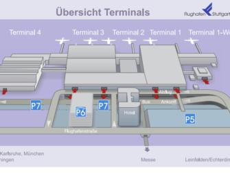 Flug Stuttgart - New York City - Karte Flughafen Stuttgart Terminals