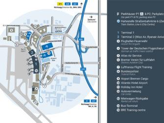 Flug Bremen - New York - Karte Flughafen Bremen