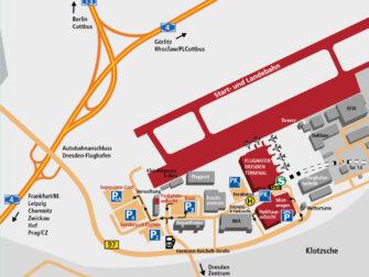 Flug Dresden - New York City - Karte Flughafen Dresden