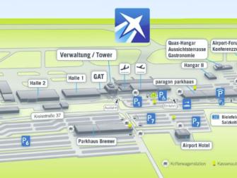 Flug Paderborn-Lippstadt - New York City - Karte Flughafen Paderborn-Lippstadt